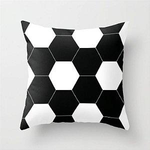 Capa de almofada Bola de futebol preta 40x40 ~ OUTLET