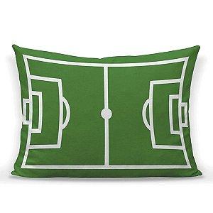 Capa de almofada Campo de futebol em tricoline 50x35 ~ OUTLET