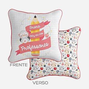 Capa de almofada Dia dos Professores rosa