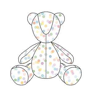 Urso ursonho Confetti colorido