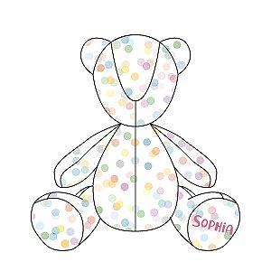 Urso Personalizável Confetti colorido
