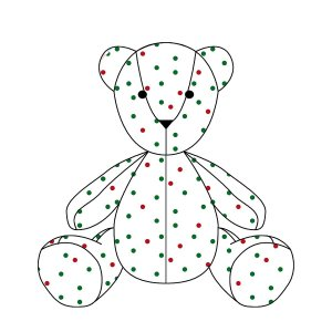 Urso ursonho bolinhas de Natal