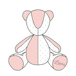 Urso Personalizável Corações (várias cores)