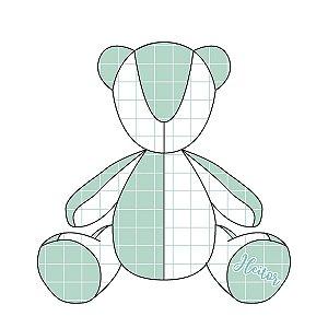 Urso Personalizável Quadrados (várias cores)