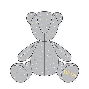 Urso Personalizável Estrelinhas (várias cores)