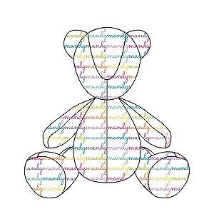 Urso Personalizado Nomes Rainbow