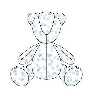 Urso ursonho Confetti azul