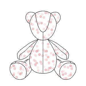 Urso ursonho Confetti rosa