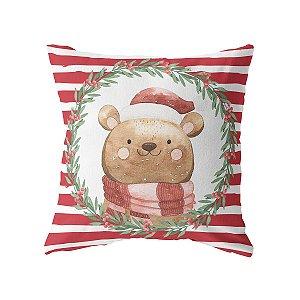 Capa de almofada Ursinho de Natal