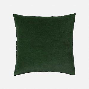 Capa de almofada em veludo luxo verde