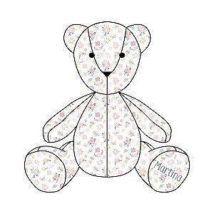 Urso Personalizável Floral