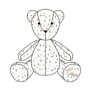 Urso Personalizável Tri Étnico laranja