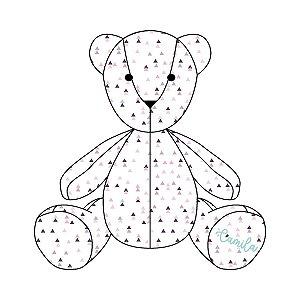 Urso Personalizável Tri Étnico roxo