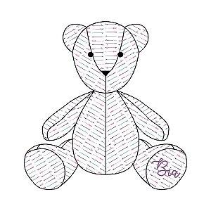 Urso Personalizável Flechas Étnico roxo