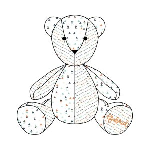 Urso Personalizável Mix Étnico marinho