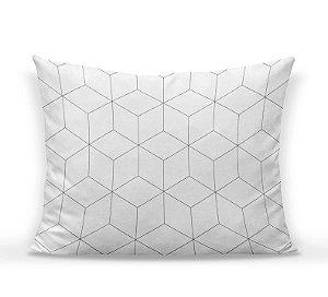 Capa de almofada Cubes branco e cinza 50x35 ~ OUTLET