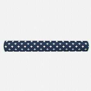 Par de rolos laterais para berço Super Cute azul marinho e menta