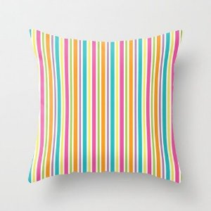 Capa de almofada Rainbow Stripes