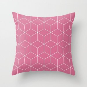 Capa de almofada Cubes Rosa Chiclete