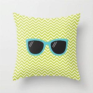 Capa de almofada Óculos Verde e Azul