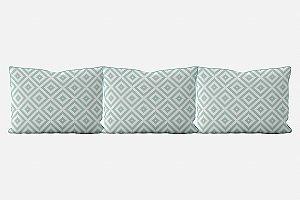 Kit almofadões para cama Aztec (várias cores)