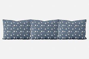 Kit almofadões para cama Com Estrelas (várias cores)