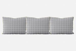Kit almofadões para cama Quadrados (várias cores)