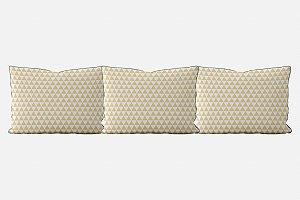 Kit almofadões para cama Triângulos (várias cores)
