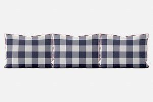 Kit almofadões para cama Xadrez (várias cores)