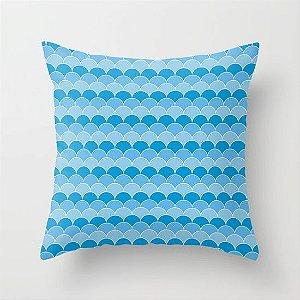Capa de almofada Escamas Azul
