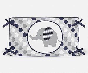 Cabeceira em espuma Elefante Azul Marinho
