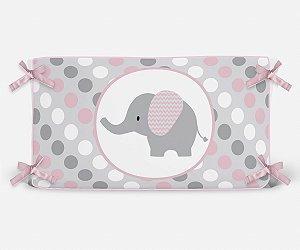 Cabeceira em espuma Elefante Rosa Bebê