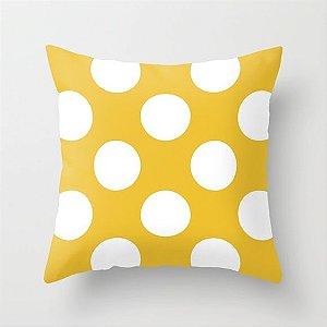 Capa de almofada Amarela com Bolas