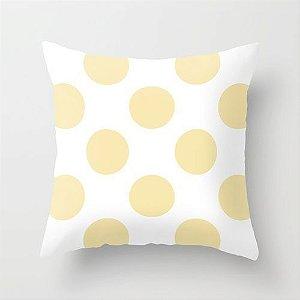 Capa de almofada Bolas Amarelo Bebê