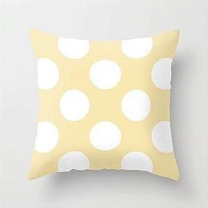 Capa de almofada Amarelo Bebê com Bolas