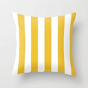 Capa de almofada listras amarelas