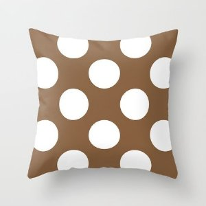 Capa de almofada Chocolate com bolas
