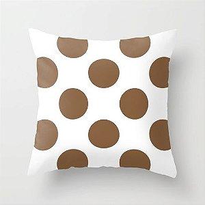 Capa de almofada bolas chocolate