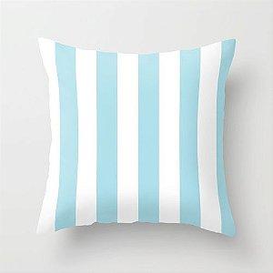 Capa de almofada listras Azul bebê