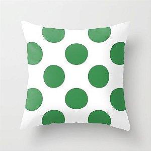 Capa de almofada Bolas Verdes