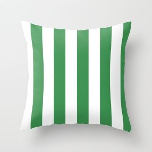 Capa de almofada listras Verdes