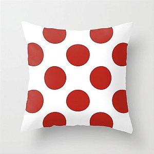 Capa de almofada Bolas Vermelhas