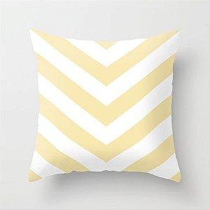 Capa de almofada V Amarelo bebê