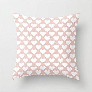 Capa de almofada Corações Rosa Quartzo 2