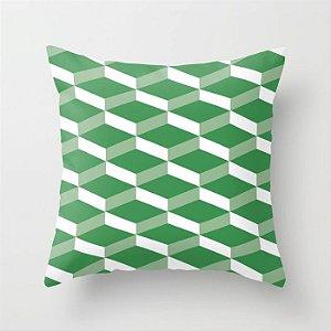 Capa de almofada 3D Verde