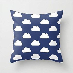 Capa de almofada Céu Azul Marinho