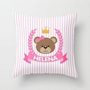 Capa de almofada Royal Bear Rosa