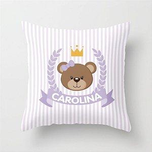 Capa de almofada Royal Bear Lilás