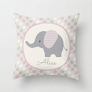 Capa de almofada Elefante Rosa