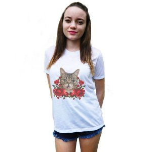 CAMISETA FLAME OFF WHITE CAT LILLY